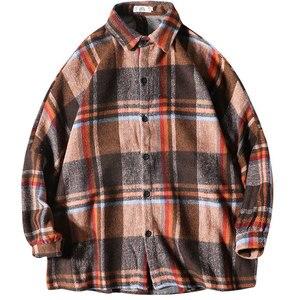 Image 5 - 2019 Frühling Und Herbst Neue Hong Stil Mode Casual Shirt Männer der Trend Lose Schulter Jacke Navy/Einfarbig S 2XL