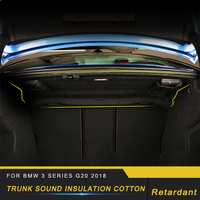 For BMW 3 Series F30 2012 2018 Auto Car Trunk Firewall Mat Pad Cover Deadener Interior Heat Sound Insulation Cotton