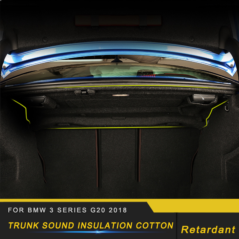 Pour BMW série 3 F30 2012-2018 Auto coffre de voiture pare-feu tapis tapis couverture Deadener intérieur chaleur isolation phonique coton