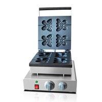 FY-2211 waffle ferro borboleta de aço inoxidável máquina waffle elétrica lanche