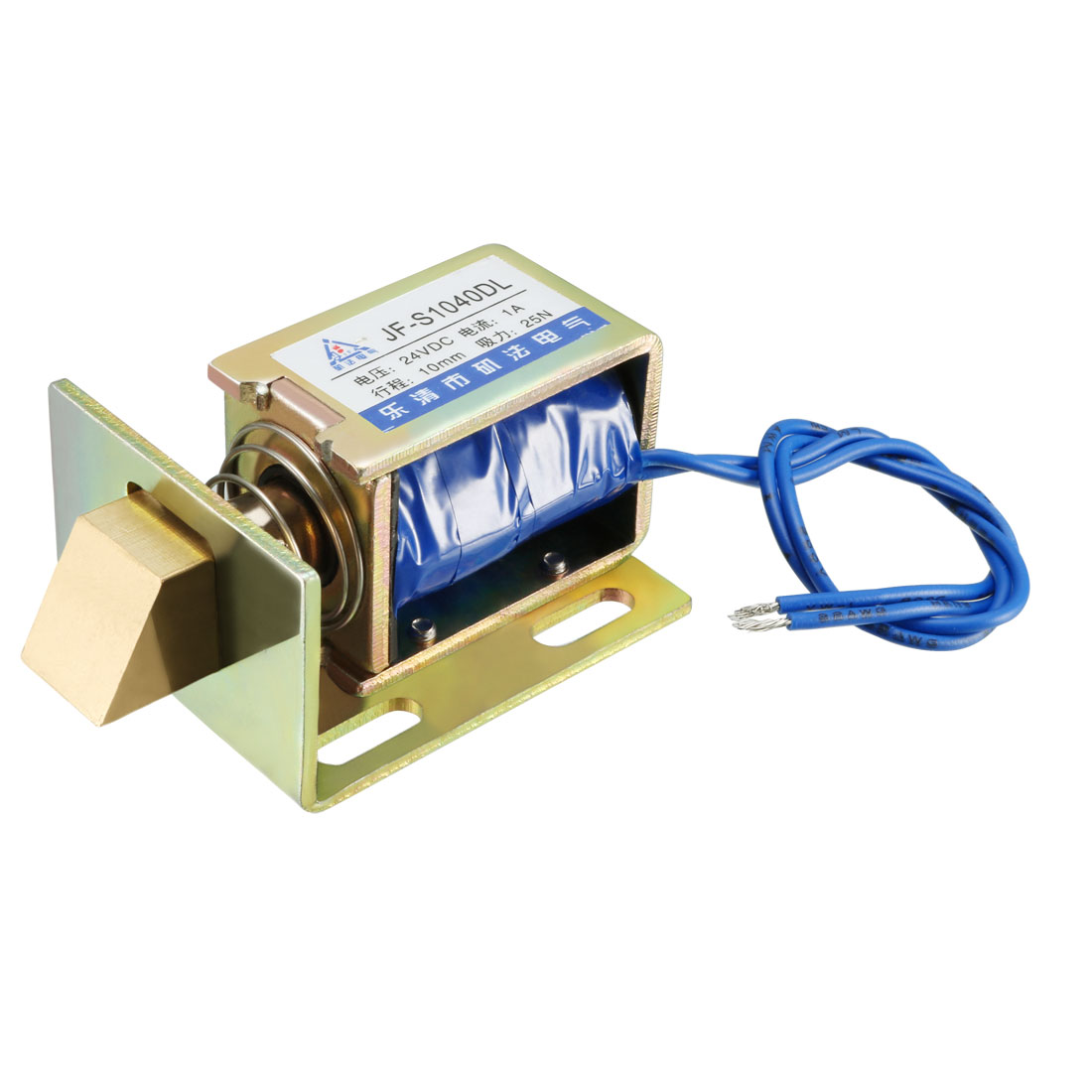 Uxcell JF-S1040DL DC 24V 1A 25N 10mm Pull Type Open FrameLinear Motion Solenoid Electromagnet