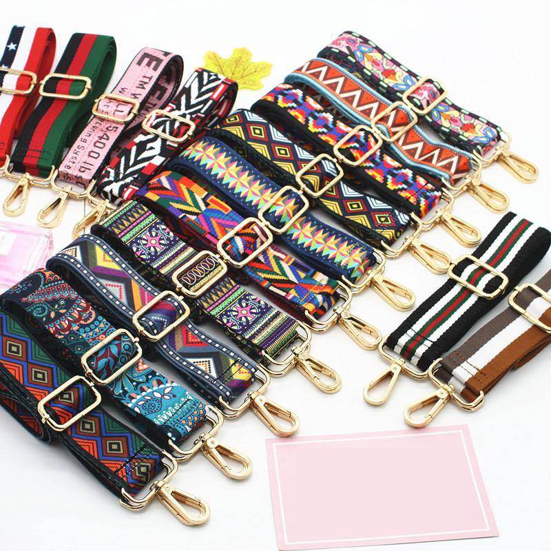 Luxury Colored Belt Bag Straps Adjustable Wide Strap Parts For Accessories Handle Handbag Nylon For Women Shoulder Messenger Bag