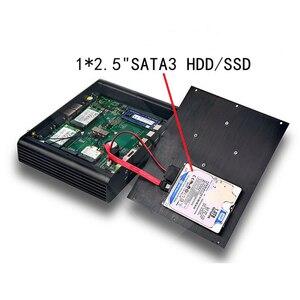 Image 3 - Mới KabyLake Intel Core i7 7560U/7660U 3.8 GHz Quạt Không Cánh Mini PC cổng Quang 2 * LAN Intel Iris plus Đồ Họa 640 DDR4 Barebone PC