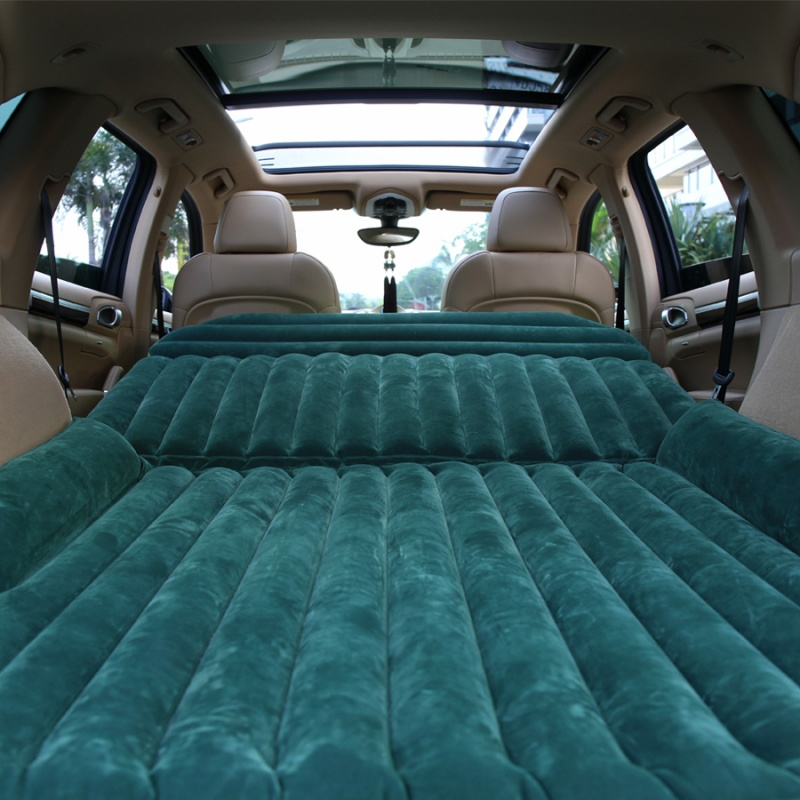 Universal Car Inflatable Mattress Bed Outdoor Travel Air Bed Cushion with Air Pump for SUV with Air Pump Outdoor Camping Travel image