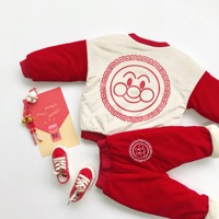Tonytaobaby New Winter Outfit for Baby Boys and Girls with Cashmere Suit Kids Clothes