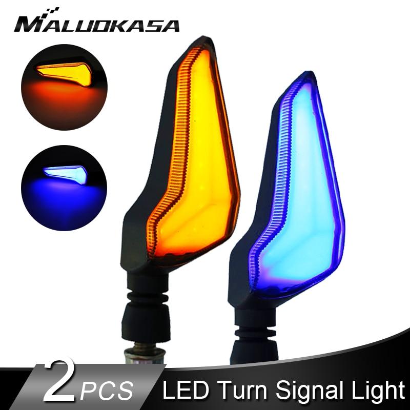 LED Turn Signals Motorcycle Flashing Turn Signals Waterproof Double-sided For Kawasaki/Suzuki/Yamaha/cbr650f DRL Indicators Lamp