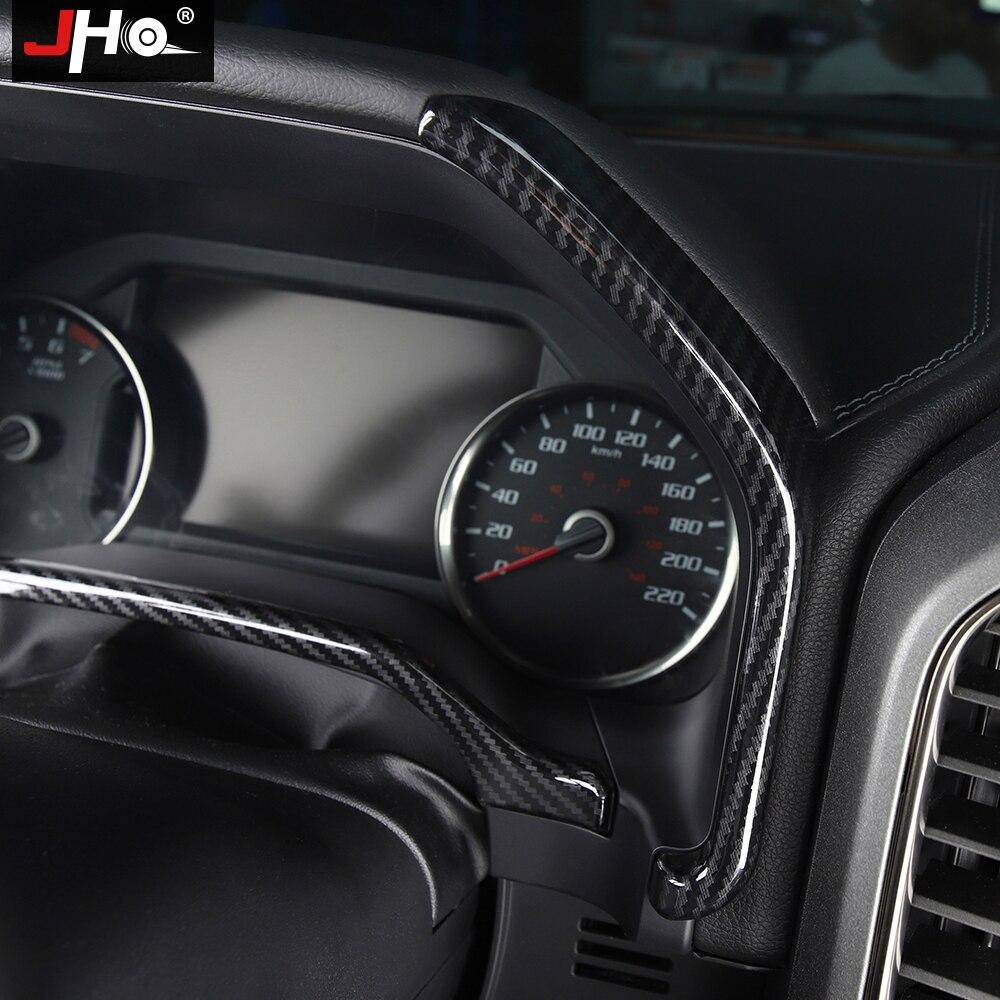 3PCS Interior Dashboard Instrument Box Chrome Cover Trim For Ford F150 2015-2018