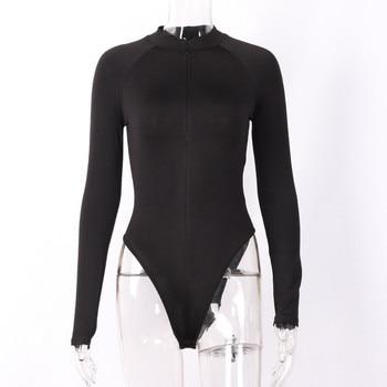 CNYISHE Sexy Sheath Velvet Rompers Women Bodysuit Long Sleeve Regular Zipper Jumpsuits Women Fashion Streetwear Outfits Overalls 6