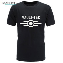 Summer New Vault Tec logo Gaming Video Game Fallout 2 3 4 Tees Tops T-Shirts Men classic Casual Cotton Apparel homme T Shirts стоимость