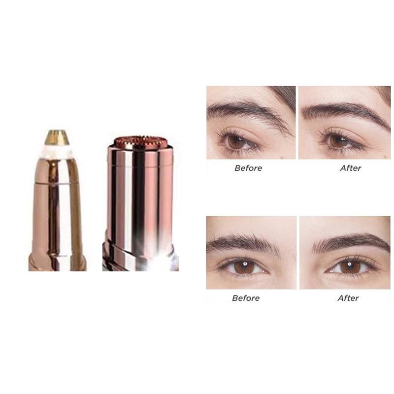 1pc Electric Facial Hair Remover Razor Depilator Defeatherer Bikini Face Neck Hair Removal Tool Trimmer Brows Eyebrow Blade