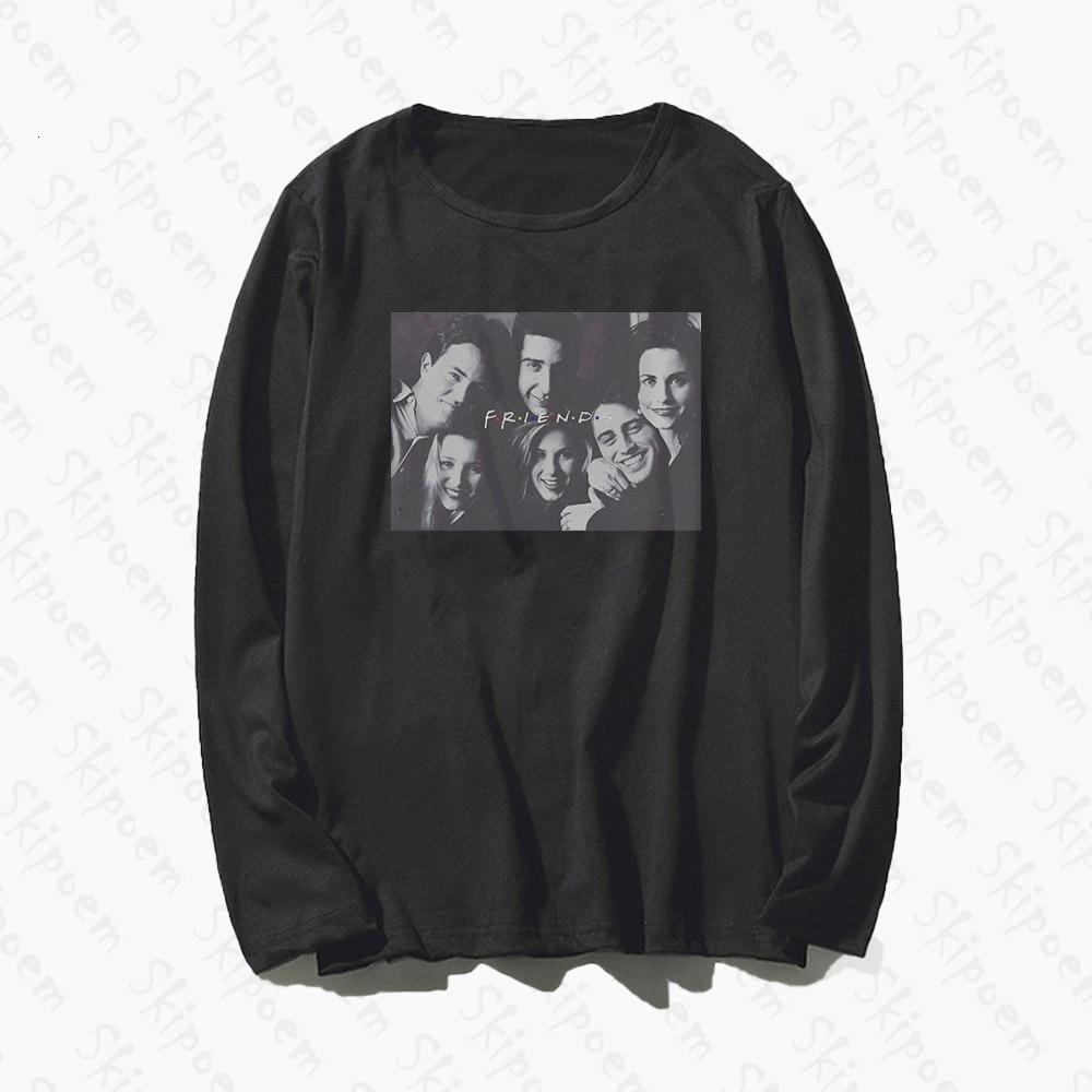 Друзья ТВ шоу классические фигуры футболка женская панк Эстетическая Harajuku Kawaii размера плюс с длинным рукавом хлопковая одежда футболка Femme