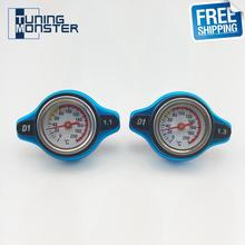 Free Shipping D1 Big Head Temperature Gauge With Utility Safe 0.9 And 1.1 And 1.3 Bar Thermo Radiator Cap Tank Cover