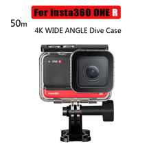 50m water resistant box for insta360 one r dive case waterproof