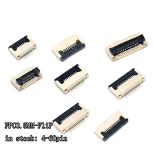 5pcs FPC Connector socket FFC 0.5MM Clamshell Bottom Contact Type 4P 6P 8P 10P 12P 14P 18P 20P 22P 24P 30P 32P 36P 40P 50P 60P