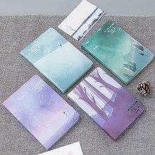 โน้ตบุ๊คปกแข็งน่ารักกระเป๋ากระดาษสมุดบันทึกBlank Diary TravelersNotebookสีหน้าSchool Supply