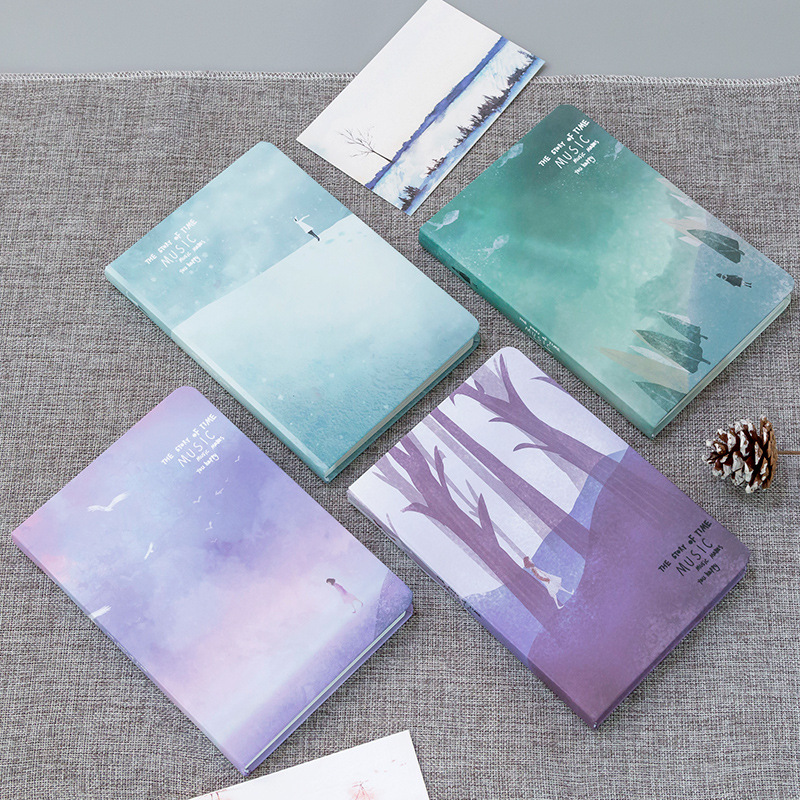 HardcoverNotebook Cute Paper Pocket Bullet Journal Planner Blank Diary TravelersNotebook With Color Page Notebook School Supply