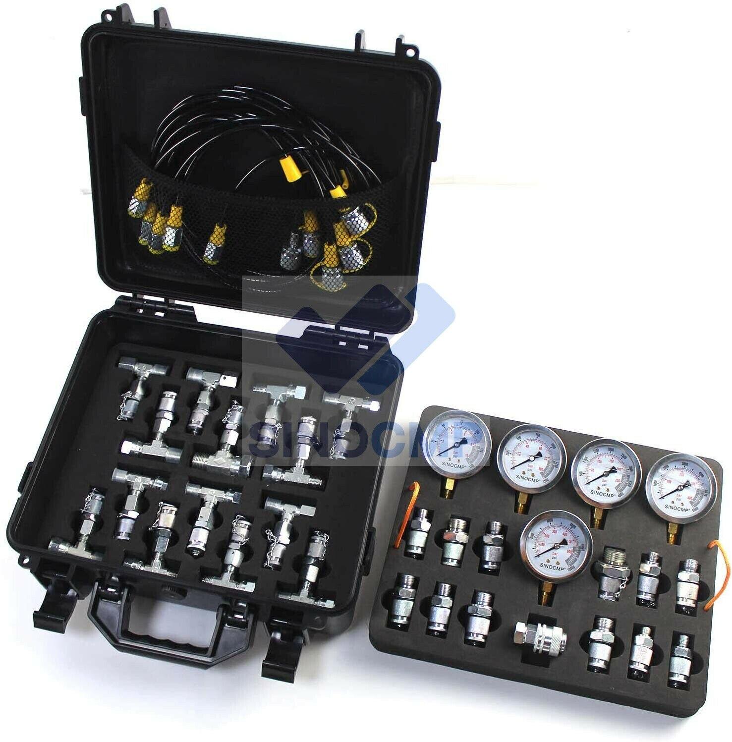 Hydraulic Test Coupling Point Kit for Excavators Caterpillar Komatsu 15-Sets