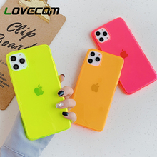Bright Fluorescent Solid Color Phone Case For iPhon