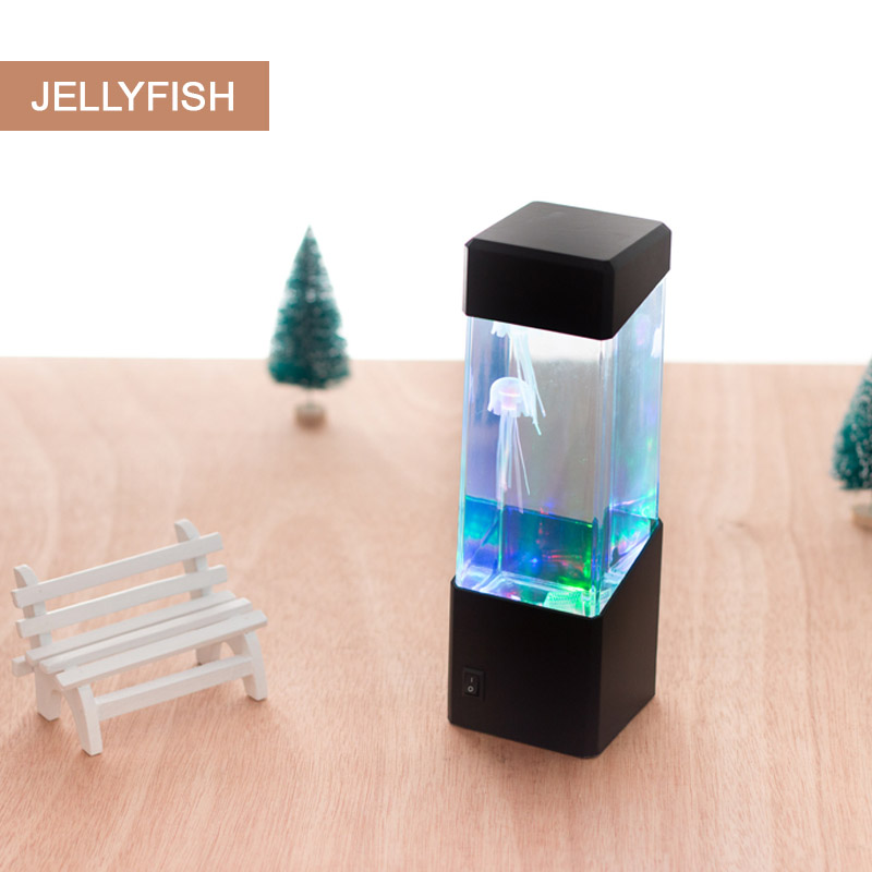 Drop Colorful Jellyfish Tank Aquarium Style LED Lamp Luminaria lamp Lava Lamp Led Night Light