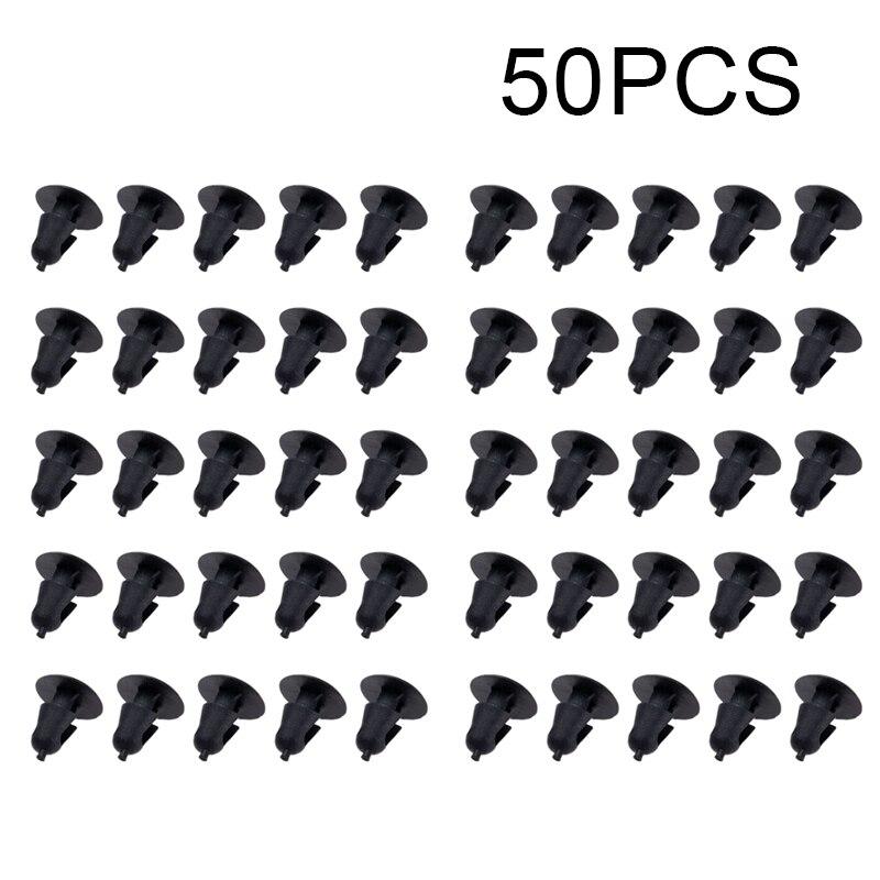 Автомобильные аксессуары 50x крепеж 5 мм Диаметр отверстия толчок двери автомобиля отделка панели фиксатор для Toyota 50 шт. автомобильные клипсы высокого качества