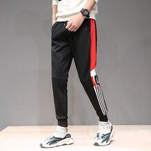 Pantalones Cargo Feitong Streetwear Bolsillos laterales Pantalones Hip Hop