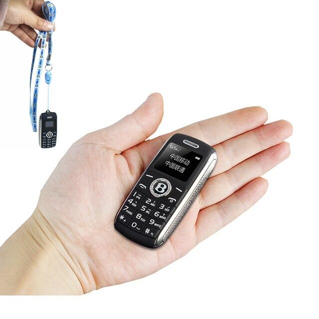 Mini Trình Quay Số Bluetooth Magic Tiếng Nói Một Khóa Đầu Ghi Celular Dual Sim Kiêm Nhỏ Điện Thoại Di Động Tiếng Nga