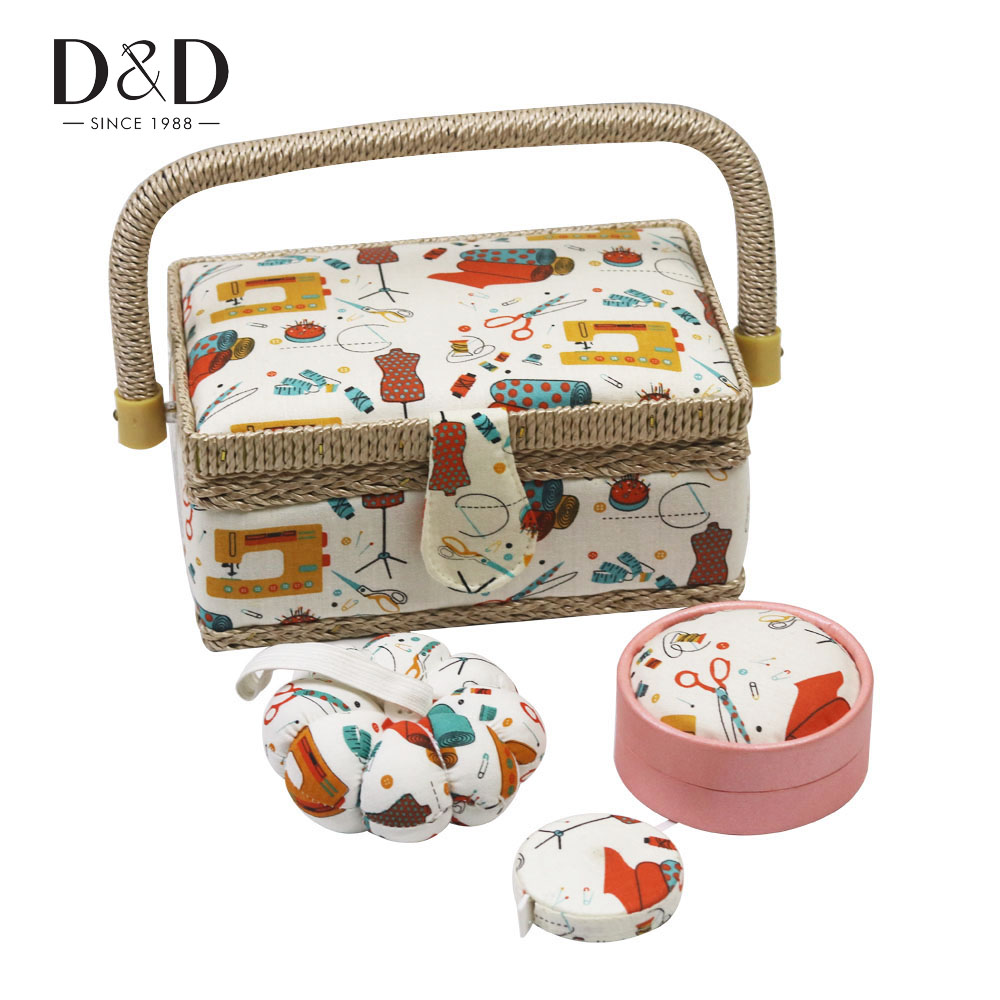 Mini Sewing Box with Sewing Kit Accessories Fabric Crafts Pincushion Retractable Ruler Sewing Tools Christmas Mom Gifts|Sewing Tools & Accessory| - AliExpress