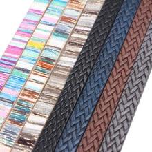 10mm planas cabo de couro do plutônio corda trança & arco-íris diy jóias acessórios descobertas jóias que fazem materiais para pulseira