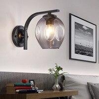 Lâmpada de parede sala de estar o quarto da cabeça de uma cama luz do corredor sala de jantar decorar lâmpada de parede de vidro lâmpada de parede|Luminárias de parede| |  -