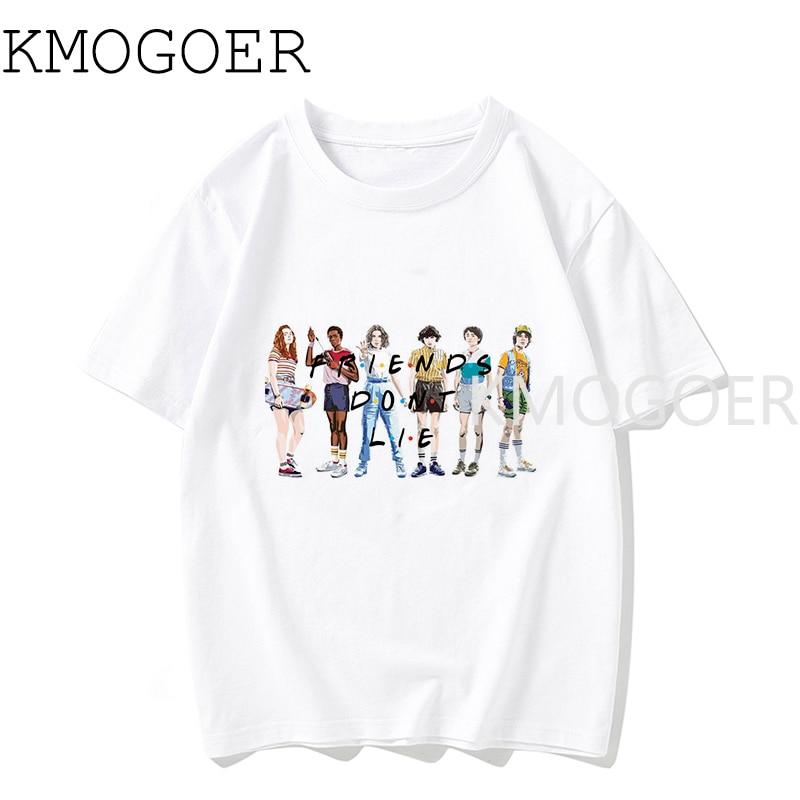 Harajuku Stranger Things 3 T Shirt Men New Tshirt Eleven Gothic Male Clothing Hip Hop Homme 2019 Streetwear Cartoon Funny Design