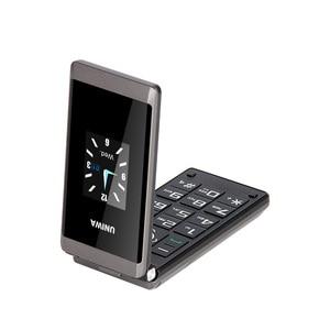 Image 2 - UNIWA X9 X28 Flip Mobile Senior Phone 16800mAh GSM Big Push Button Dual SIM FM Russian Hebrew Keyboard Handwriting SOS Phone