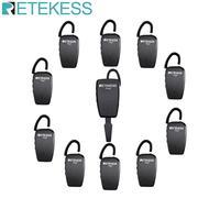 Retekess TT107 Wireless Tour Guide System UHF Professionelle Ohren Hängen Drahtlosen Empfänger 1 Sender + 10 Empfänger für Reisen