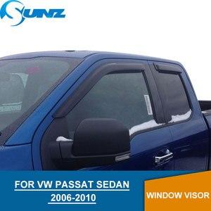 Image 1 - Dla volkswagena VW PASSAT 2006 2010 osłona przeciwdeszczowa okna dla VW PASSAT 2006 2007 2008 2009 2010 SEDAN akcesoria SUNZ