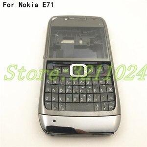 Полностью закрытый мобильный телефон, корпус батареи для Nokia E71 + английская клавиатура + логотип, хорошее качество