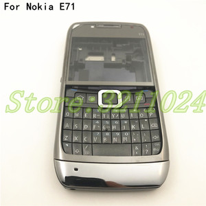 Image 1 - نوعية جيدة الأصلي الكامل كاملة الهاتف المحمول بطارية مبيت غطاء لعلامة نوكيا E71 + لوحة المفاتيح الإنجليزية + شعار