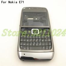 Buona qualità Originale Completa completa Alloggiamento Del Telefono Mobile Della Copertura di Batteria Per Nokia E71 + Tastiera Inglese + Logo