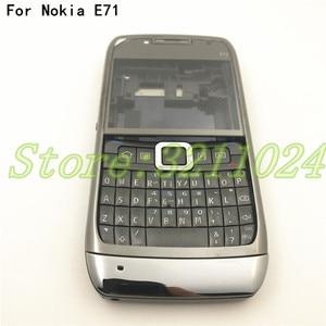 Image 1 - 良質オリジナルフルコンプリートの携帯電話のためのノキア E71 + 英語キーパッド + ロゴ