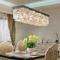 Современная хрустальная прямоугольная люстра  освещение для гостиной  кухни  остров  люстра для дома  Потолочный подвесной светильник