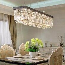Modern Crystal Rectangular chandelier Lighting for Living room Kitchen Island Chandelier Indoor home Ceiling Pendant Lamp все цены