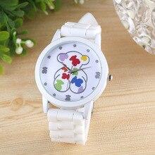 reloj mujer 2019 New Hot Luxury Brand Bear Silicone Quartz Watch Men Wo