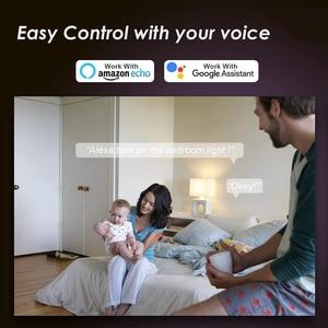 Умные Светодиодные лампы E27 с Wi Fi, лампа с инфракрасным дистанционным управлением и управлением через приложение, с регулируемой яркостью, с поддержкой Alexa и Google Assistant, IOS, Android, RGB, CW + WW|Светодиодные лампы и трубки|   | АлиЭкспресс