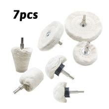 7 Uds almohadilla para pulir mopa almohadillas de rueda para Kit de taladro Buffer polaco ruedas de abrillantado para coche