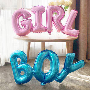 Balloons Baby Shower Letter-Foil Alphabet Air-Globos-Decor Birthday Wedding-Party Baby-Boy-Girl