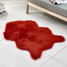 Living Room Bedroom Rug Antiskid Soft Wool Imitation Sheepskin Rugs Faux Fur Non Slip Bedroom Shaggy Carpet Mats Modern Carpet(China)