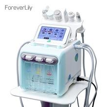 Вода кислородная струя кожи Алмазная дермабразия машина для очистки гидро дермабразия Гидра машина для лица 6 в 1 устройство для пилинга воды