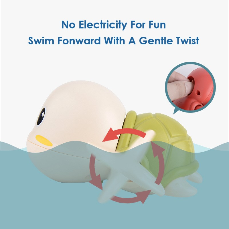 Baby Bath Toys Zabawki Do Kapieli  ABS  Wind Up  Tortoise Style  Beach Bathroom Swiming Pool Play Water kids Toddler Toys 4