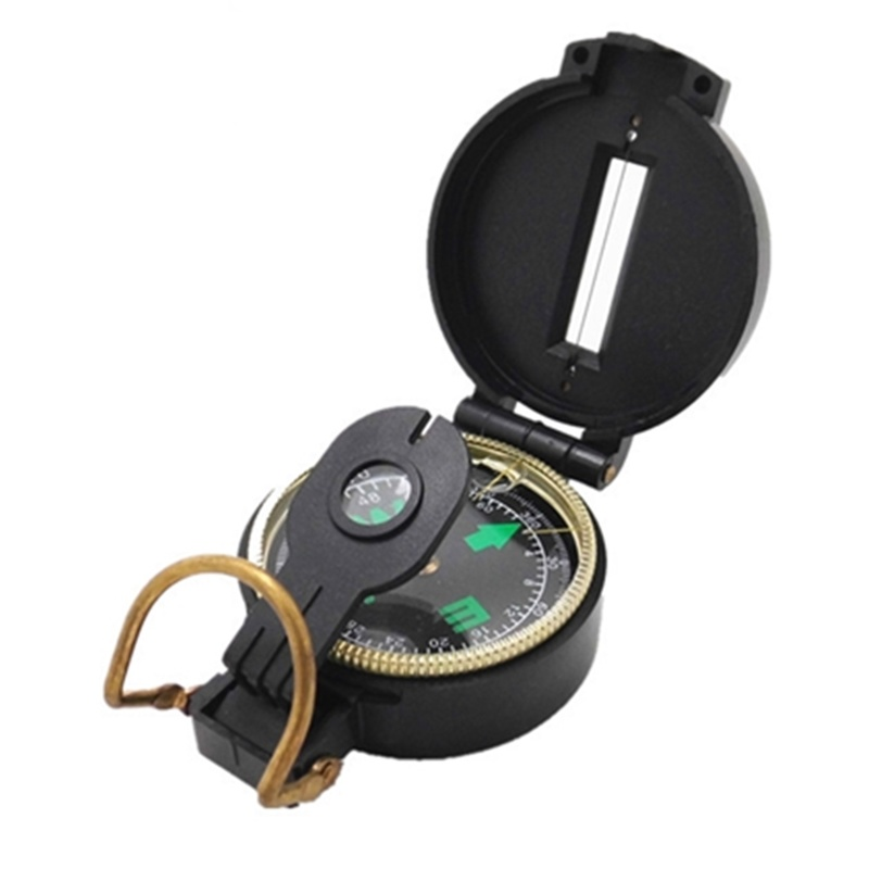 1PCs Portable Folding Lens Compass Military Multifunction Compass Boat Compass Dashboard Dash Mount Outdoor Camping Tools