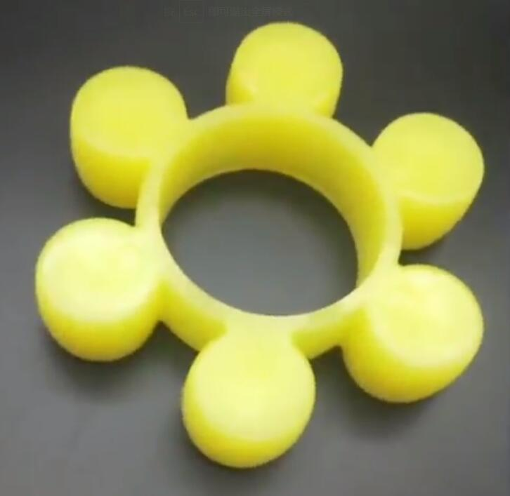 MT9 MT10 MT11 MT12 MT13 Gasket Cushion Yellow Polyurethane PU Pump Spider Jaw Flexiable Shaft Coupling Buffer Coupler Damper