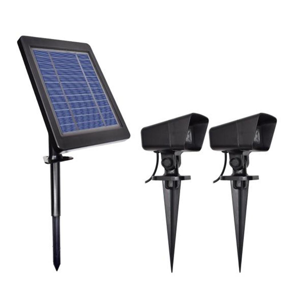 GloryStar 2 in 1 Solar Powered Spotlight for Garden Pool Pond Outdoor Christmas Villa Decor