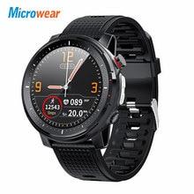 2020 New Microwear L15 Smart Watch Men IP68 Waterproof smartWatch ECG PPG Blood Pressure Heart Rate sport fitness Smartwatch